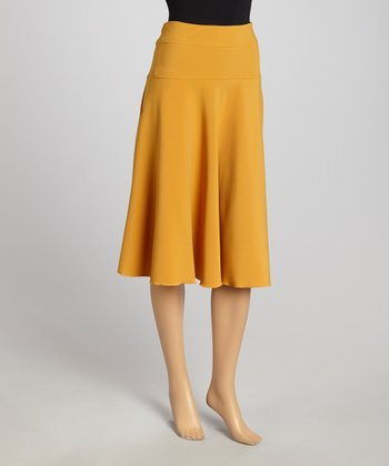 Mustard A-Line Skirt - Women & Plus