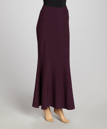 Purple Panel Maxi Skirt - Women & Plus