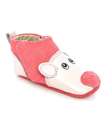 Zooligans Blossom & Strawberry Pig Gripper Booties