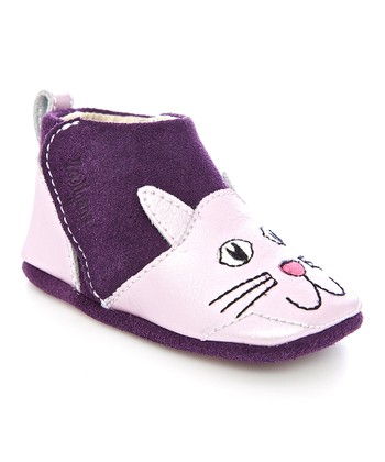 Zooligans Purple & Plum Kitty Gripper Booties