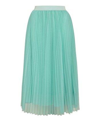 Mint Net Midi Skirt