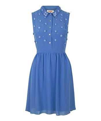 Blue Daisy Top Shirt Dress