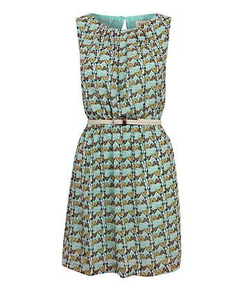 Mint Chiffon Butterfly Dress