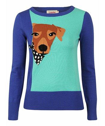 Blue & Green Dog Intarisa Jumper