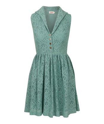 Mint Lace Sleeveless Dress