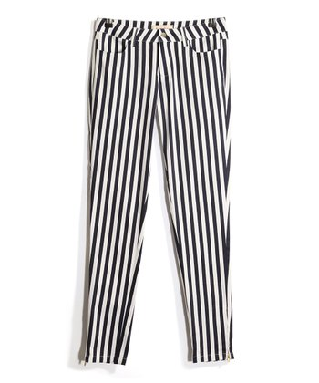 Navy & White Stripe Jeans