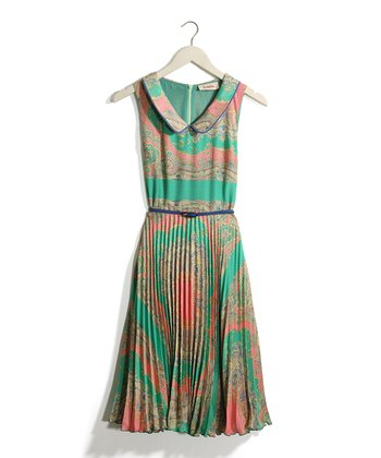 Mint & Rose Paisley Pleated Dress