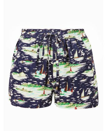 Navy Nautical Shorts