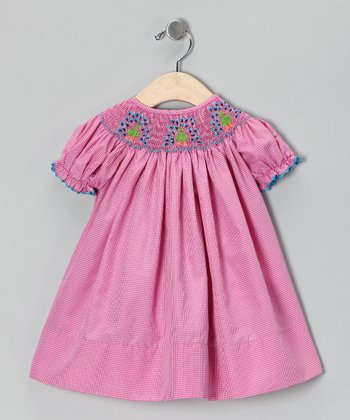Smocked Gems Pink Peacock Bishop Dress - Infant, Toddler & Girls