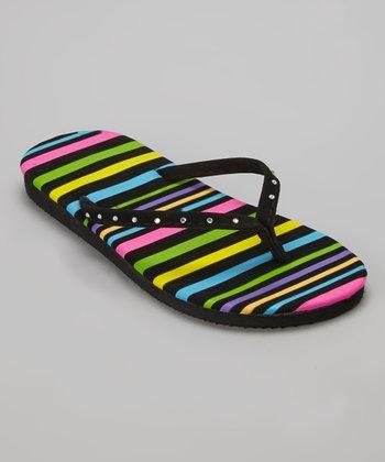 Chatties Black Stripe Flip-Flop