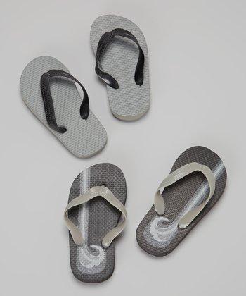Empire Gray Waves Flip-Flop Set