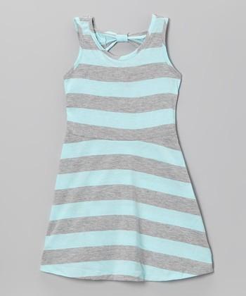 Crystal Blue Stripe A-Line Dress - Infant, Toddler & Girls