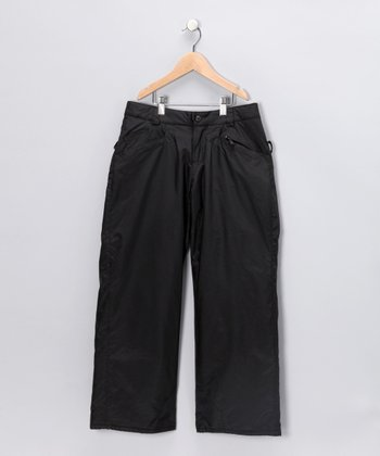 Black Bootcut Snow Pants - Girls
