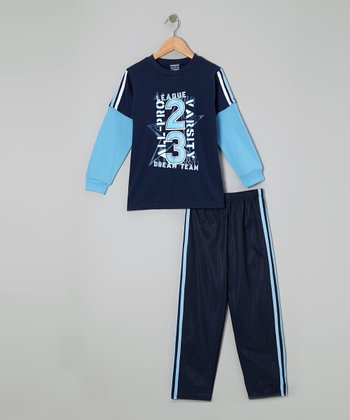 Blue 'Dream Team' Layered Tee & Pants - Infant