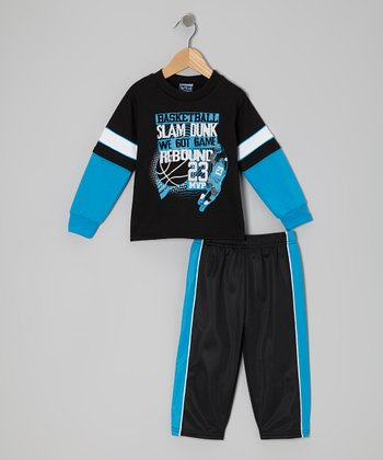 Blue 'Rebound' Layered Tee & Pants - Infant, Toddler & Boys