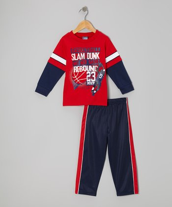 Red 'Rebound' Layered Tee & Pants - Infant, Toddler & Boys