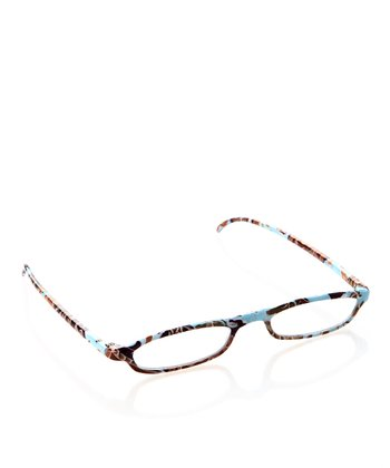 Blue Floral Slim Readers