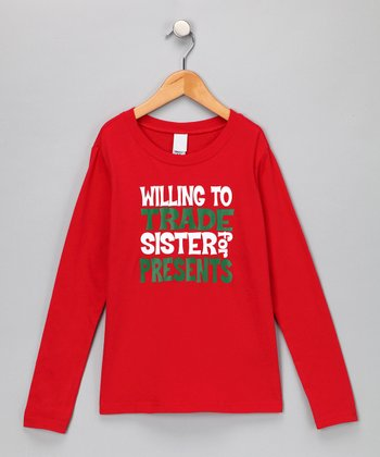Red 'Willing to Trade Sister' Tee - Toddler & Kids