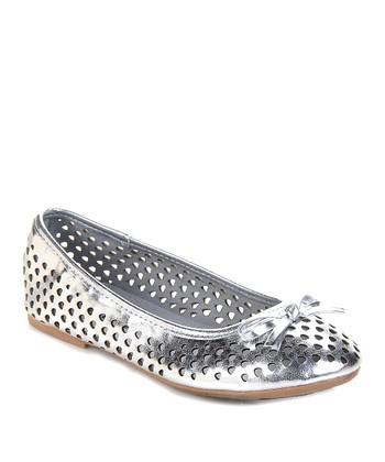 Silver Fayth Ballet Flat