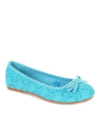 Blue Masa Ballet Flat