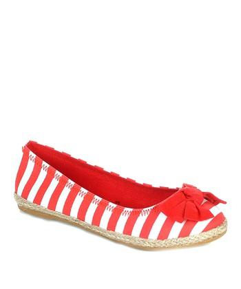 Red Stripe Pra Ballet Flat
