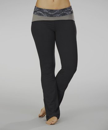Black Hot Spot Yoga Pants