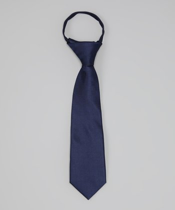 Navy Tone-on-Tone Tie