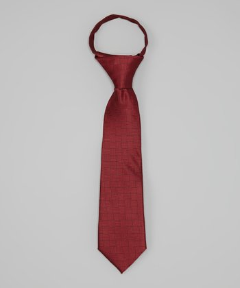 Red Tone-on-Tone Tie