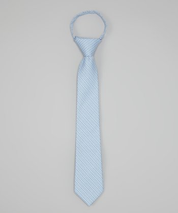 Blue Pin Dot Tie