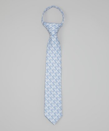 Blue Checkerboard Tie