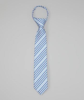 Faded Blue Stripe Tie