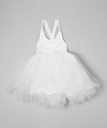 White Beaded Tutu Dress - Toddler & Girls