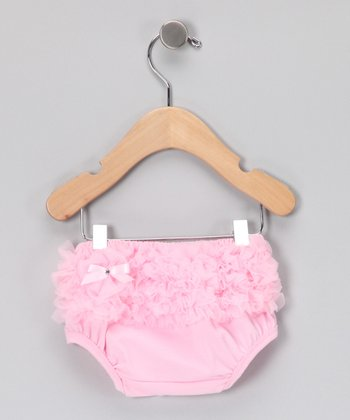 Pink Ruffle Diaper Cover - Infant