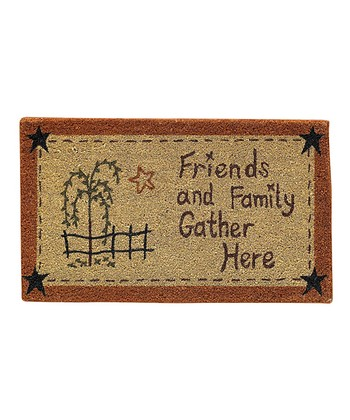 'Friends and Family Gather Here' Doormat