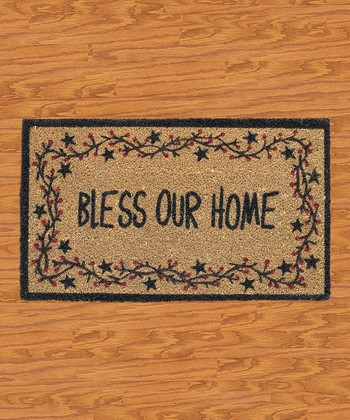 'Bless Our Home' Star Vine Doormat