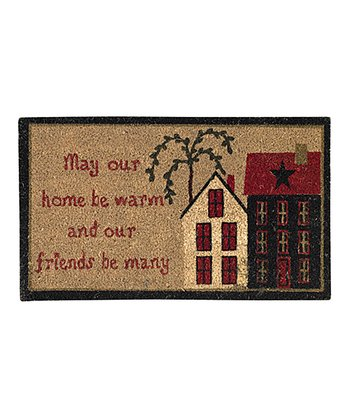 'May Our Home Be Warm' Doormat