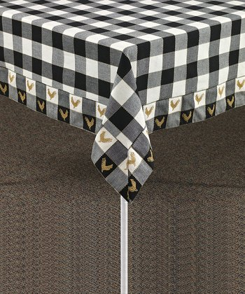 Black & White Devon Tablecloth