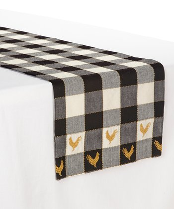 Black & White Devon Table Runner