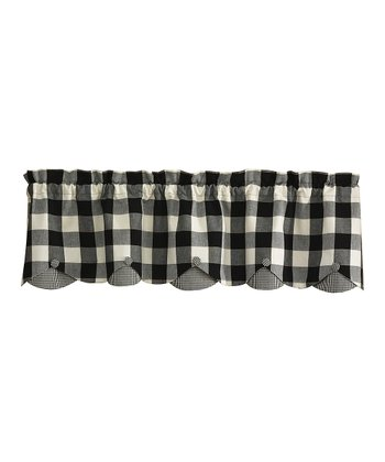 Black & White Devon Lined Valance