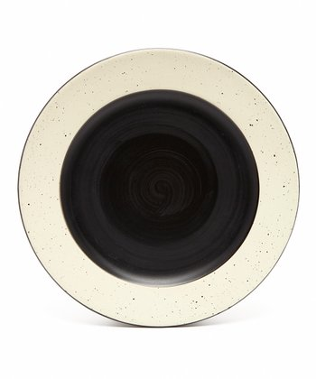 Black & White Devon Dinner Plate - Set of Four