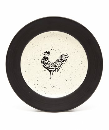 Black & White Devon Salad Plate - Set of Four