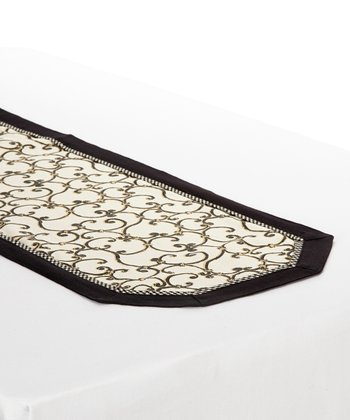 Black & White Sussex Table Runner