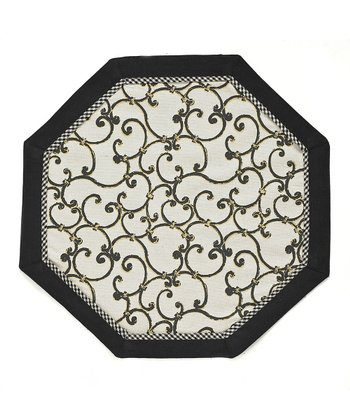 Black & White Sussex Place Mat - Set of Four