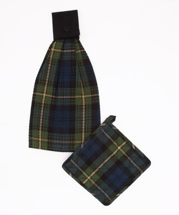 Black Watch Pot Holder & Hand Towel Set