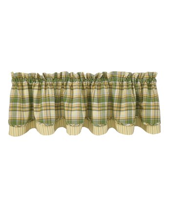 Lemongrass Lined Layered Valance