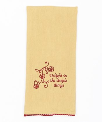 'Simple Things' Dish Towel
