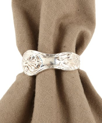 Silverware Handle Napkin Ring - Set of Four