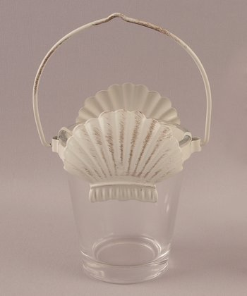 Shell Nautical Candleholder