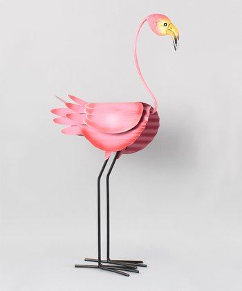 Pink Flamingo Sculpture