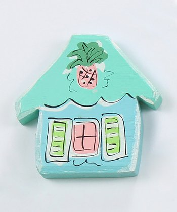Blue & Pink House Magnet
